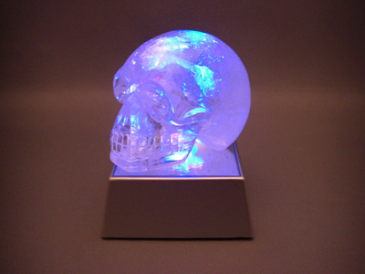 color light crystal skull